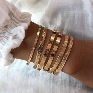 💫✨💫6pcs BoHo textured bracelet set💫✨💫